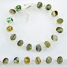 19.18cts natural blue labradorite 925 sterling silver bracelet jewelry r88293