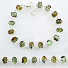 18.82cts natural blue labradorite 925 sterling silver bracelet jewelry r88298