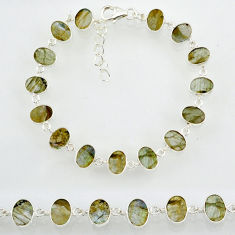 18.57cts natural blue labradorite 925 sterling silver bracelet jewelry r88300