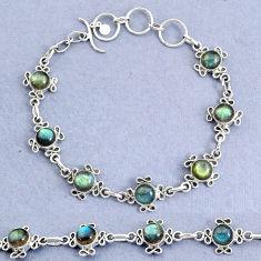 14.94cts natural blue labradorite 925 sterling silver bracelet jewelry t8476