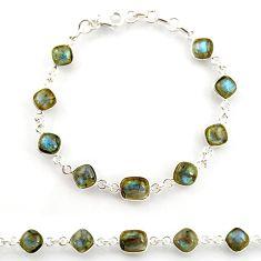 23.15cts natural blue labradorite 925 sterling silver tennis bracelet r38717