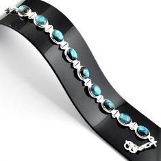 36.96cts natural blue labradorite 925 sterling silver tennis bracelet r39063