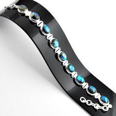 38.72cts natural blue labradorite 925 sterling silver tennis bracelet r39067