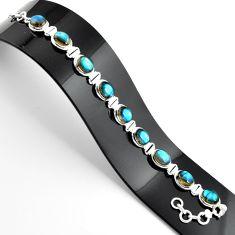 37.43cts natural blue labradorite 925 sterling silver tennis bracelet r39070