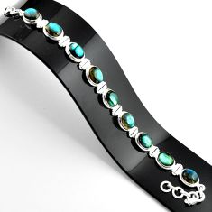 37.86cts natural blue labradorite 925 sterling silver tennis bracelet r39073