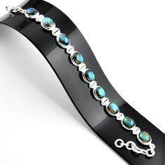 36.67cts natural blue labradorite 925 sterling silver tennis bracelet r39074