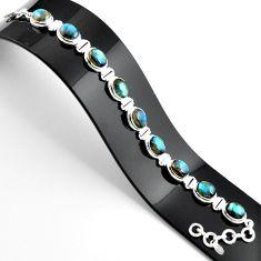 38.72cts natural blue labradorite 925 sterling silver tennis bracelet r39076