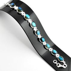38.27cts natural blue labradorite 925 sterling silver tennis bracelet r39079