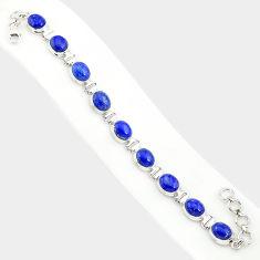 38.72cts natural blue lapis lazuli 925 sterling silver tennis bracelet r84293