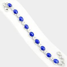 36.67cts natural blue lapis lazuli 925 sterling silver tennis bracelet r84294