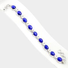 37.43cts natural blue lapis lazuli 925 sterling silver tennis bracelet r84341