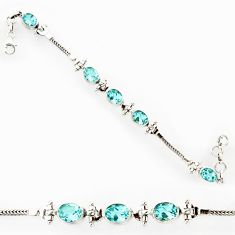 16.67cts natural blue topaz 925 sterling silver tennis bracelet jewelry r27570