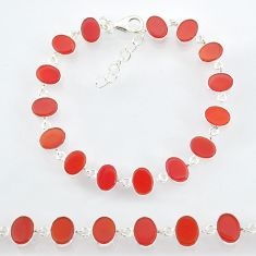 23.24cts natural honey onyx 925 sterling handmade silver bracelet r88261
