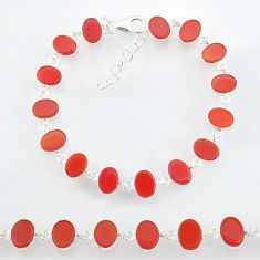 23.73cts natural honey onyx 925 sterling handmade silver bracelet r88262