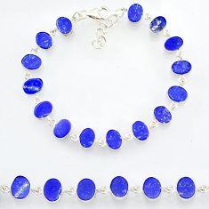 20.65cts natural lapis lazuli 925 sterling silver bracelet jewelry r88301