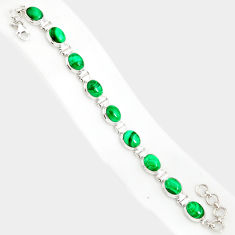40.36cts natural malachite (pilot's stone) 925 silver tennis bracelet r84270
