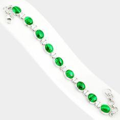41.53cts natural malachite (pilot's stone) 925 silver tennis bracelet r84277