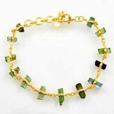 14.95cts natural multi color tourmaline 925 silver tennis bracelet r33262