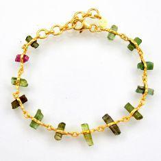 15.43cts natural multi color tourmaline 925 silver tennis bracelet r33266