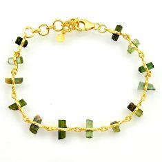14.47cts natural multi color tourmaline 925 silver tennis bracelet r33275
