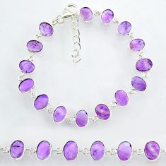 19.61cts natural purple amethyst 925 sterling handmade silver bracelet r88245
