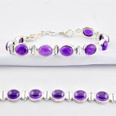 37.02cts natural purple amethyst 925 sterling silver tennis bracelet r38782