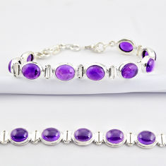 37.45cts natural purple amethyst 925 sterling silver tennis bracelet r38792