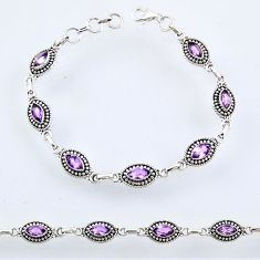 9.42cts natural purple amethyst 925 sterling silver tennis bracelet r54928