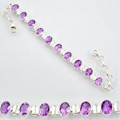 20.80cts natural purple amethyst 925 sterling silver tennis bracelet r87063