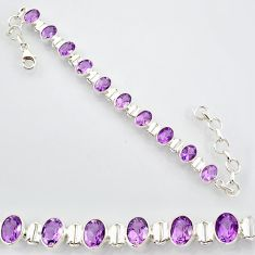 20.54cts natural purple amethyst 925 sterling silver tennis bracelet r87096