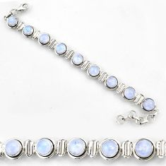 28.61cts natural rainbow moonstone 925 sterling silver bracelet jewelry r44755