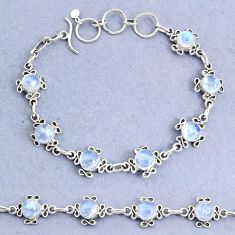 15.38cts natural rainbow moonstone 925 sterling silver bracelet jewelry t8479