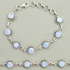 19.62cts natural rainbow moonstone 925 sterling silver tennis bracelet r25131