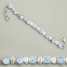 23.35cts natural rainbow moonstone 925 sterling silver tennis bracelet r25135