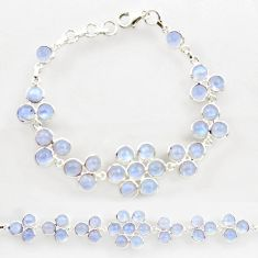 25.90cts natural rainbow moonstone 925 sterling silver tennis bracelet r27590