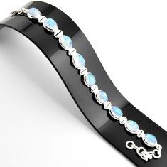 38.72cts natural rainbow moonstone 925 sterling silver tennis bracelet r38873