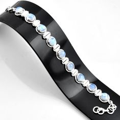 30.40cts natural rainbow moonstone amethyst 925 sterling silver bracelet r45218
