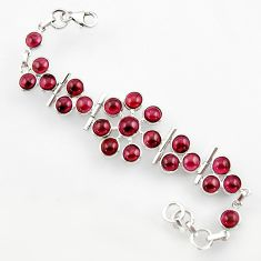 33.65cts natural red garnet 925 sterling silver bracelet jewelry r44753