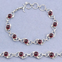 16.34cts natural red garnet 925 sterling silver bracelet jewelry t8461