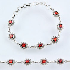 11.62cts natural red garnet 925 sterling silver tennis bracelet jewelry r54969