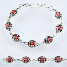 10.47cts natural red garnet 925 sterling silver tennis bracelet jewelry r54989