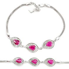 10.04cts natural red ruby topaz 925 sterling silver bracelet jewelry c19788