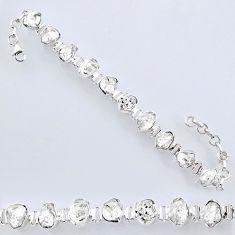 48.07cts natural white herkimer diamond 925 silver tennis bracelet r61703