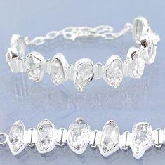 45.52cts natural white herkimer diamond 925 silver tennis bracelet t6681