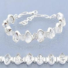 41.56cts natural white herkimer diamond 925 silver tennis bracelet t6683