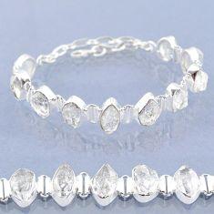 40.17cts natural white herkimer diamond 925 silver tennis bracelet t6685