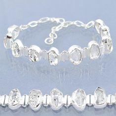 39.36cts natural white herkimer diamond 925 silver tennis bracelet t6686