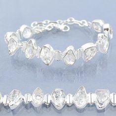40.17cts natural white herkimer diamond 925 silver tennis bracelet t6687
