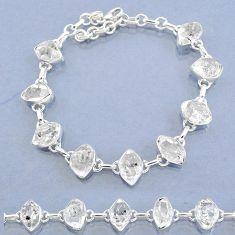 37.08cts natural white herkimer diamond 925 silver tennis bracelet t7752