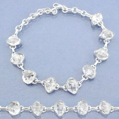 36.05cts natural white herkimer diamond 925 silver tennis bracelet t7753